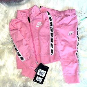 Nike Baby Girls 2 Piece Pink Track Set